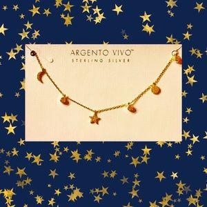 ⭐️NWT ARGENTO VIVO 925 STERLING CELESTIAL NECKLACE